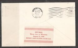Canada Clp7 Extra Fine Used On Cover Flown Aug 17 1928 Moose Jaw To Winnipeg