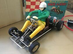 Vintage Marx Race A Kart Toy Battery Operated With Box Great Condition