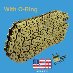 Chain 530 X 130 Gold Color With O-ring Fit Honda Suzuki Yamaha