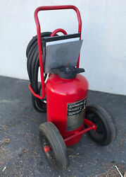 Ansul Red Line Wheeled Dry Chemical Fire Extinguisher