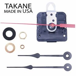 Made in USA Takane Quartz Battery Clock Movement Kit with Hands Multiple Sizes