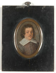 Portrait Of A Young Gentleman, Anglo-dutch School, Oil On Copper, 1650/60