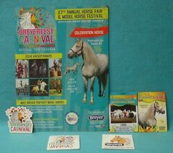 BREYERFEST PROGRAM CARDS MAGNET AND STICKERS 2016 GREAT CONDITION