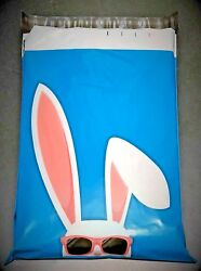 Pick Quantity 1-2000 10x13 Blue Cool Shades Easter Bunny Poly Mailer Ship Bags
