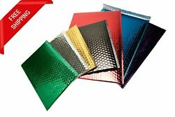Metallic Glamour Bubble Mailers Padded Envelopes Bags In Assorted Size And Color