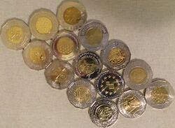 Set Of 25 Kuna Coins Croatia - 12 Different Types All Unc From 1997 To 2017