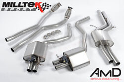 Milltek Audi Rs6 C7 Cat Back Resonated Exhaust System Stainless Steel