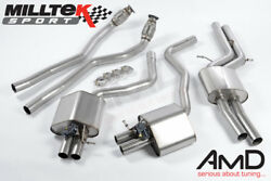 Milltek Audi Rs7 C7 Sportback Cat Back Resonated Exhaust System Stainless Steel