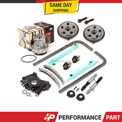 Timing Chain Kit Selenoid Cam Phaser Water Oil Pump For 05-10 Ford 4.6 Triton
