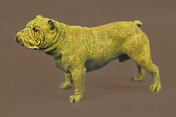 Bronze Sculpture Statue Handcrafted English Bulldog Animal Dog Cast Figurine Fig