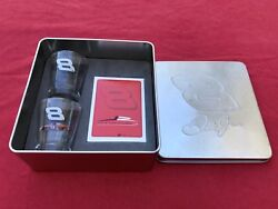 8 Dale Earnhardt Junior Shot Glasses Playing Cards And Collectors Tin