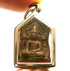 Khunpaen Strong Love Attraction Real Thai Buddha Amulet Lucky Gamble Win Pendant