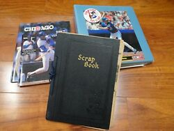 Vintage Chicago Cubs Scrapbook Photo Collectible Lot 1930and039s-80and039s 1 Of A Kind