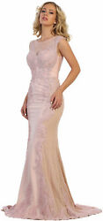 SALE ! STRETCHY DESIGNER EVENING DRESS FORMAL DEMURE PROM GOWNS SPECIAL OCCASION $149.99