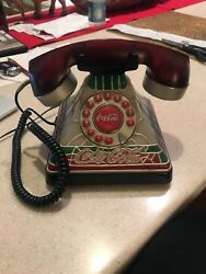Vintage Coca-cola Look Stained Glass Style Lighted Phone