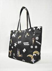 Marc By Marc Jacobs M0012706 Tossed Charms Printed Shopping Bag / Nylon Tote Bag