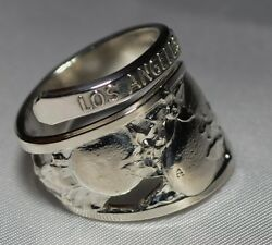 Vintage Los Angeles County Fair Oranges Spoon Ring Free Shipping Charles Robbins