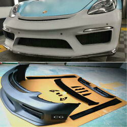FRP GT4 Bodykit for Porsche Cayman 718  (bumper diffuser spoiler side skirts)