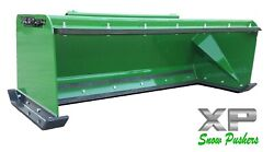 7and039 Xp24 John Deere Snow Pusher W/ Pullback Bar - Tractor Loader - Local Pick Up
