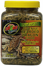 Zoo Med Bearded Dragon Food Juvenile Soft-Moist Pellet 10 oz.