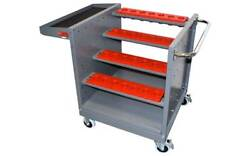 Nc/cnc Tool Holder Trolley / Cart Holds 28 Ct 50 Tools Free Shipping