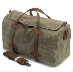 Men Women Waterproof Canvas Shoulder Bag Travelling Luggage Hiking Tote Bag 21