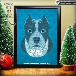 PERSONALISED STAFFORDSHIRE BULL TERRIER CHRISTMAS GIFT XMAS PRESENT GIFTS