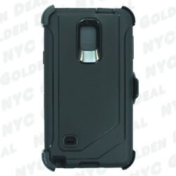 Black For Samsung Galaxy Note 4 Defender Case with Clip fits Otterbox $9.99