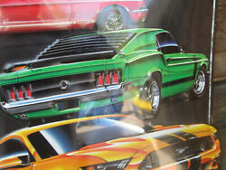 Ford V8 Mustang 1967 2019 1969 Boss 302 Garage Shelby Metal Cool 13 By 12 3/4