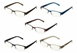 Tashon~Set of 5~Rimless Readers with Anti-Glare~A281895~A281897~Reading Glasses
