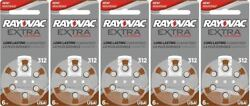 Rayovac Extra Hearing Aid 312 Size batteries Zinc air 30 240 cells Exp 2025