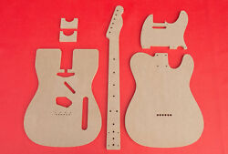 Telecaster Guitar Router Template Set Body Wvintage Router Hump Cnc 1/2 Mdf