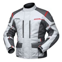 XL Mens DriRider Summit Evo Touring Jacket Motorbike Waterproof Grey Black