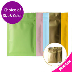 Multi-color And Size Matte Finish Foil Mylar Double-sided Zip Lock Pouch Bag M