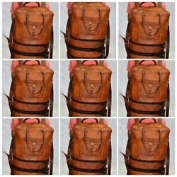 Wholesale Lot leather messenger large soft luggage travel bag backpack briefcas