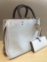 Coach Rogue 1941 Chalk PURSE & WALLET!!!