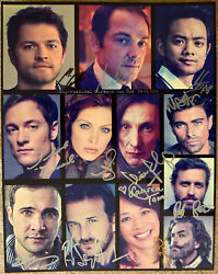 Authentic Supernatural Cast Signed Photo At Burbank Convention 14x11