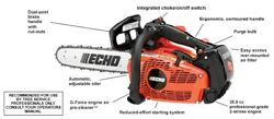 Echo Gas Chain Saw Top Handle 35.8cc 14and039 Bar And Chain Cs-355t-14