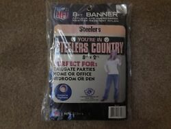 Pittsburgh Steelers 8ft X2ft Nylon Banner By Party Animal