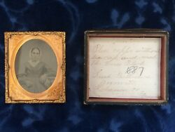 1887 Glass Ambrotype Of Sarah Parthemore, Annville, Lebanon Co Pa