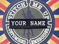 1 Larger 5 X 1 1/4 Embroidered Name Tape Various Camouflage And Text Color