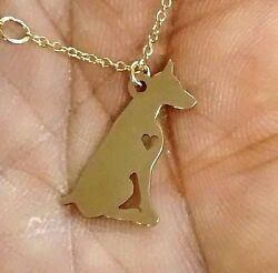 Doberman Necklace - Sterling Silver Jewelry - Gold - Rose Gold - Engrave - Gift