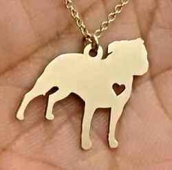 American Staffordshire Necklace - Sterling Silver Jewelry - Gold - Rose Gold