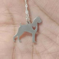 Boxer Ears Down Necklace - Sterling Silver Jewelry - Gold - RoseGold - Dog Charm