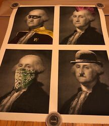 Mr Brainwash Mbw President's Day Limited Edition Print Large Print Sold Out
