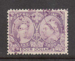 Canada 64 Very Fine Used With Magenta Winnipeg Cancel With Certificate