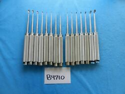Aesculap Surgical Orthopedic Straight And Angled Cobb Curettes Lot Of 15