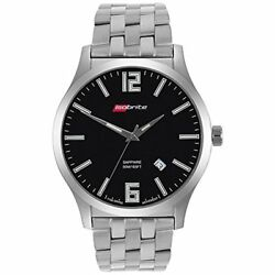 Isobrite Iso912 Grand Slimline Series Black Dial Tritium Watch With Steel Band