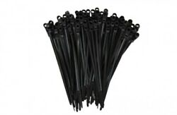 100 - 2000 Mounting Hole Zip Ties Nylon Nail Screw Wire Cable Black 4 - 15