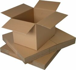 Single Wall Plain Brown Corrugated Cardboard Postal Mailing Boxes - All Sizes